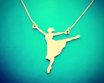 Madonna 18k Gold Plated Dancer Necklace Britney Spears Necklace / Shakira necklace / Paula Abdul Necklace / Ballerina  /Jennifer Lopez