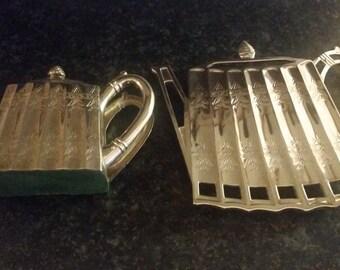 Godinger Silver Teapot Stand and Napkin Holder.