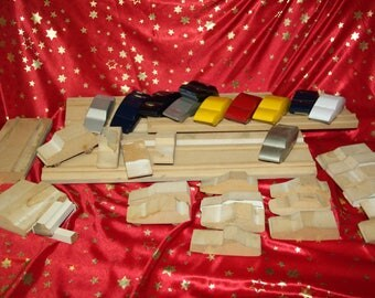 29 wood cars vintage wood toys and some tracks handcrafted 50's vintage teaching school project nice craft project ready to paint wood toys