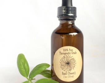 Sweet Basil essential oil for therapeutic use, 60ml