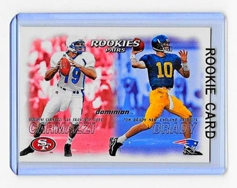 Rookie Card Tom Brady RC 2000 Fleer Skybox Dominion #234 RC-New England Patriots -Michigan University Wolverines Fathers Day Gift