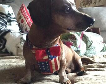 Patriotic Stripes Dachshund Harness
