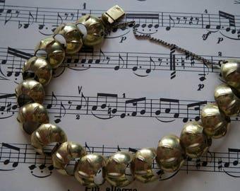 Vintage Bracelet-Gold double-stamped-grandma's bracelet-bangle-Armban-Gilded-Vintagezustand-ca. 60-er Jahre-Vintageschmuck