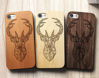 Geometric Stag /Deer iPhone 8 Case also for iPhone X , 8, 8 Plus, 7,SE,5/5s,6s/6 Plus and 7 Plus Case, S6, S7,S7 Edge, S8 ,S8Plus