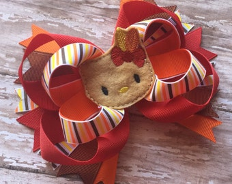 Ready to ship : Thanksgiving Hello Kitty Hair Bow