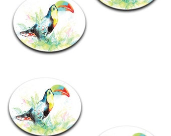 A pack of 4 of Parrot/toucan Pattern weights I deal for weighing down patterns on delicate fabrics no need for pins like TV sewing Bee