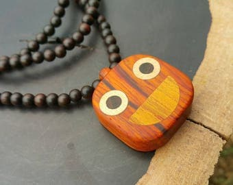 Smiley/Smiley Face/Smile Face/Smiley Face necklace/Wooden necklace/Cocobolo Wood