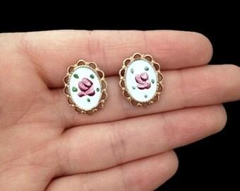 Delicate Earrings - Botanical Earrings - Flower Earrings - Bridal Earrings - Bridal Accessories - Wedding Jewelry - Vintage Wedding -Vintage