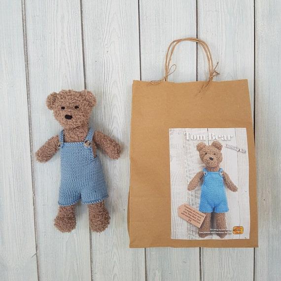 make your own teddy bear template - tom bear knitting kit make your very own teddy bear easy