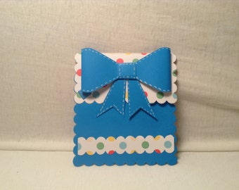 BIG BOW PRESENT Gift Card Holder