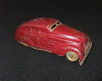 Classic American style wind up clockwork tinplate vintage c1960s toy car