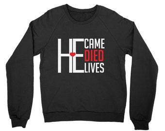 Women's Sweatshirt, Gift for her, Crewneck Sweatshirt, Sweatshirts, Christian Clothing, Christian Shirts, Christian, Black Sweatshirt, Jesus