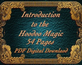 Hoodoo magic Intro, 54 pages, BOS Pages, Witchcraft