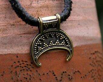 Lunula pendant Necklace for women Luna Talisman for women Charm Russia Lunitsa Pendant Moon pendant Сrescent