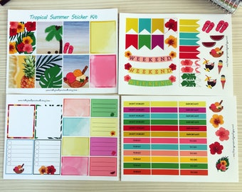 Tropical Summer Planner Sticker Kit