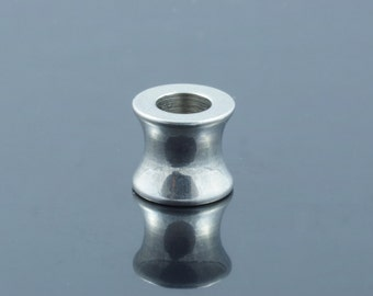 Stainless Steel Large Hole Beads.  8x9mm.  Hole  5mm