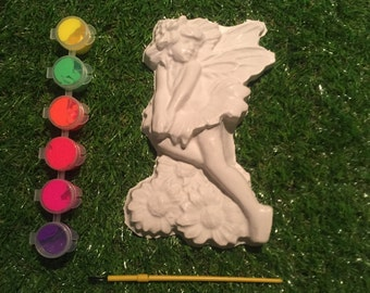 Fairy Plaster Painting Kit - Fairy Party Plaster Painting - Plaster Painting Kit - Fairy Plaster Mould - Plaster Mold - Fairy Mould