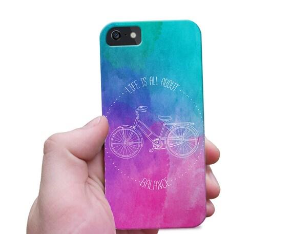 Quote iPhone 7 Case, Slim iPhone 6s Case, Balanced Life Phone Case, Quote Galaxy Note Case, Text Galaxy S6 Case
