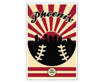 Arizona Baseball Vintage Poster