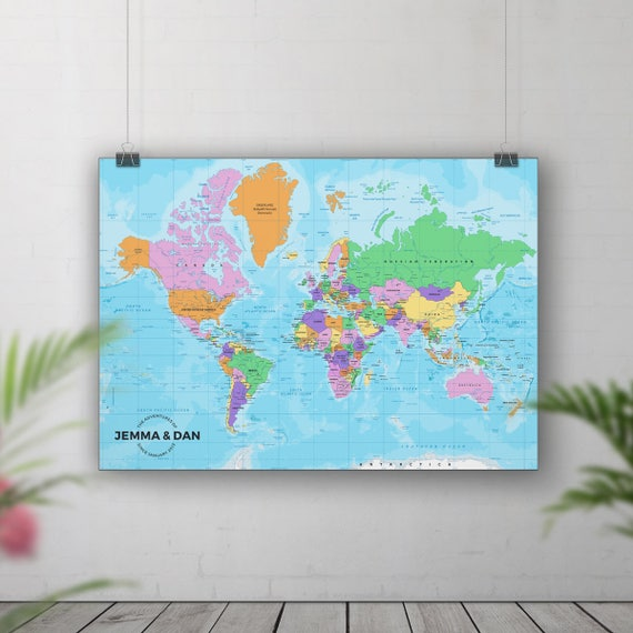 Pin Board Map Push Pin World Map Places Weve Been