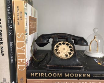 Vintage Toy Telephone, metal, mid century
