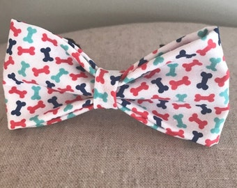 Colorful Dog Bone Bow Tie