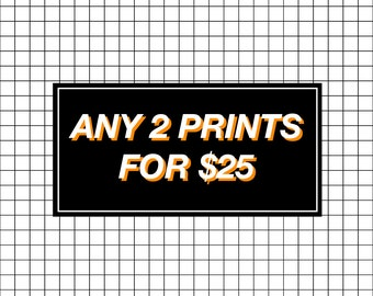 LARGE PRINT DEAL - 2 for 25
