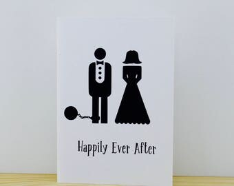Ball and Chain Engagement/Wedding Card