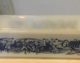 Vintage Glasbake Currier and Ives