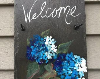 hydrangea house sign | etsy