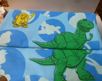Toystory 2 flat and 2 fitted twin single sheets CUTTER DIYmaterial fabric