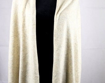 Cashmere Gift Item / Cashmere Scarf Cashmere Cape Ladies Shawl Beige Pashmina Knit Wrap Stole Winter Warm Cashmere Travel Blanket