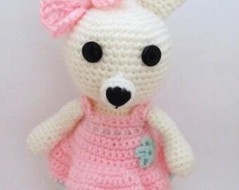 Crochet bunny/Amigurumi Bunny/Nursery Toy