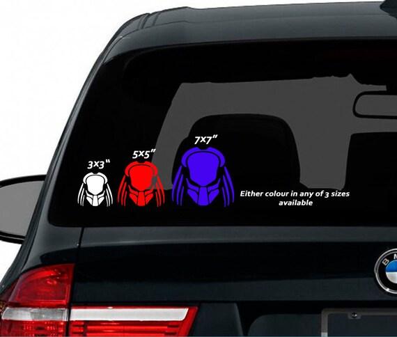 Predator Car Stickers Decal Uk Seller Shops Only Purple Red - Custom vinyl car stickers uk