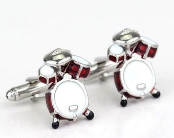 Krazy Drum Set Cufflinks-B15