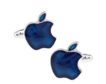 Apple Cufflinks - Blue-k25