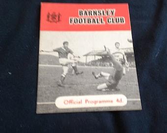 Football programme Barnsley v Oldham saturday October 24th 1964