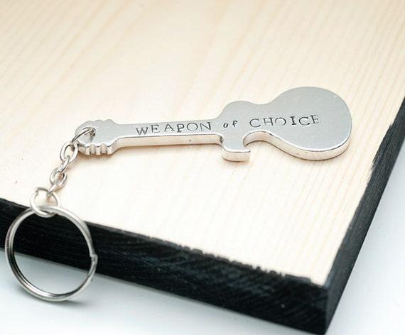 guitar bottle opener bottle opener key chain gift for him. Black Bedroom Furniture Sets. Home Design Ideas