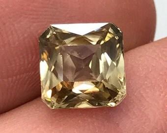 4+ carat Yellow Zircon custom cut