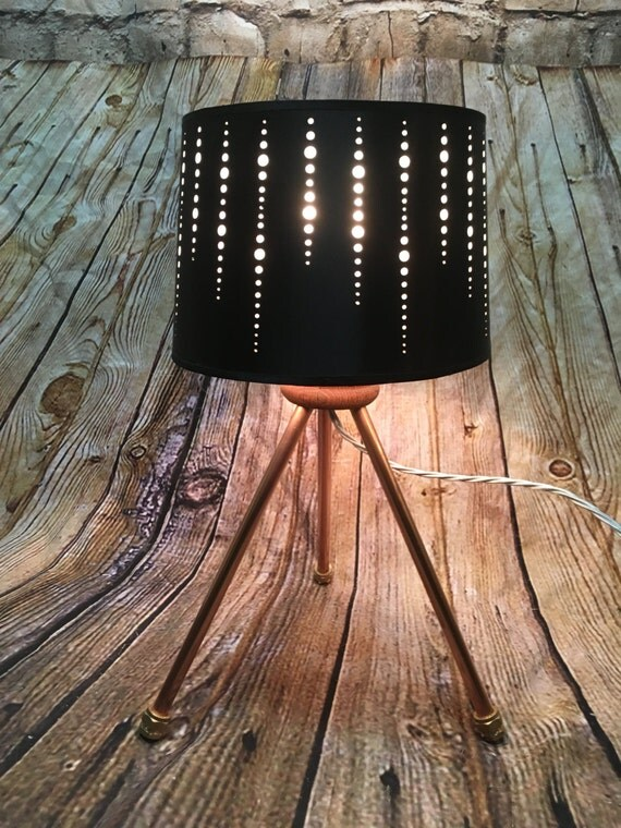 Copper pipe Tripod table Lamp