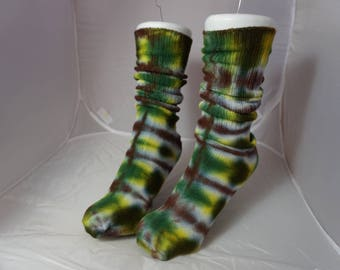 Forest Premium bamboo tie-dye socks forest PLB2