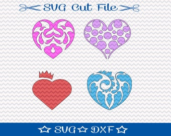 Valentine SVG Cut File, Valentine Hearts SVG File, SVG for Silhoutte Cut File, Filigree Heart svg,  Valentine dxf, Valentines Day Svg