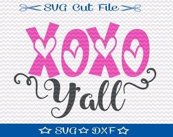 Valentine SVG, First Valentine SVG File, SVG Cut File for Silhouette Cameo, Cupid svg, Love svg, Kids Valentine svg, xoxo y'all svg