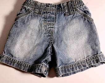 Vintage Distressed Baby Short Circo Size 12 Months Washed Shorts