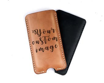 Personalized leather iPhone Case, Leather iPhone case, Custom iPhone case, Personalized gift, Gift idea, Gift for her, Gift for him