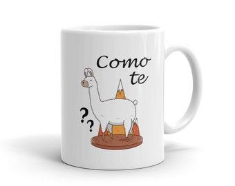 Mother's Day Gift Como Te Llama Mug, Cute Lama Mug, Cómo te llamas, Funny Spanish Mug, Funny Lama Mug, Lama Lover Mug, Cool Lama Mug #1098