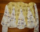 CLEARANCE! Vintage 1950s sailboat print waist apron 423