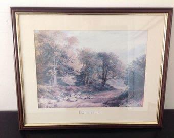 Framed Print / Picture - Leafy Lane by George Turner - Large - 55cm x 45cm
