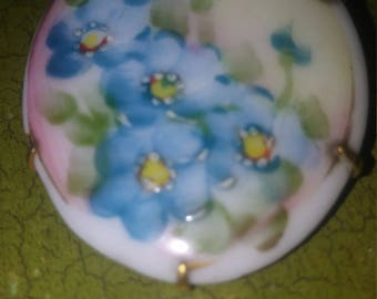Hand painted antique brooch