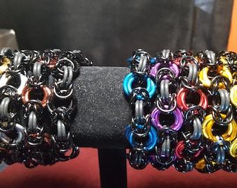 Box and Spiral Stretch Bracelet